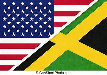 国民, countries., 関係, アメリカ, ∥対∥, ジャマイカ, 2, flag., ∥間に∥