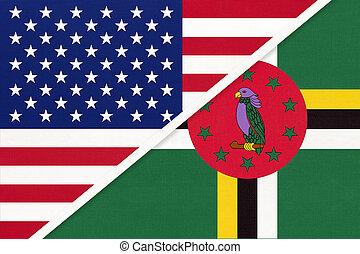 国民, countries., 関係, アメリカ, ∥対∥, ドミニカ, 2, flag., ∥間に∥