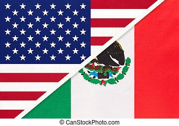 国民, countries., 関係, アメリカ, ∥対∥, 2, メキシコ\, flag., ∥間に∥