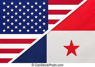 国民, countries., 関係, アメリカ, ∥対∥, 2, flag., パナマ, ∥間に∥