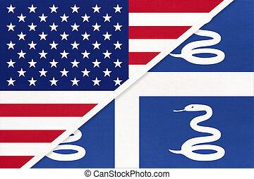 国民, countries., martinique, 関係, アメリカ, ∥対∥, 2, flag., ∥間に∥