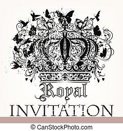 国王の王冠, カード, 招待