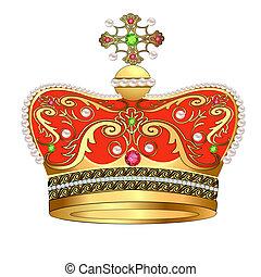 国王の王冠, 宝石, 金