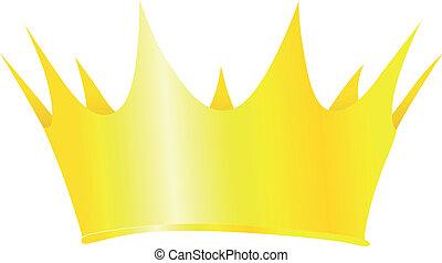 国王の王冠, 隔離された, イラスト, ベクトル, 背景, 白