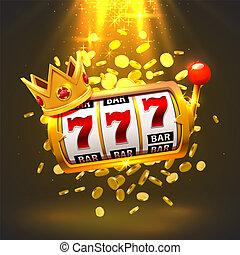 国王, 狭缝, 777, 旗帜, casino.