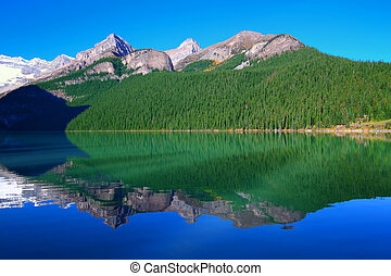 国立公園, 湖, banff, louise