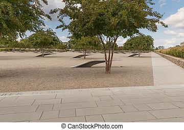 国防総省, 記念, 中に, washington d.c., -, いいえ, 名前, ディスプレイの上に