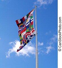 国際的な 旗