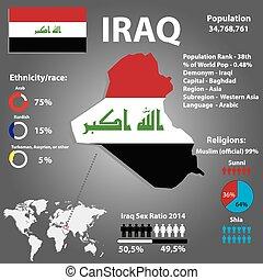 国, テンプレート, ベクトル, infographics