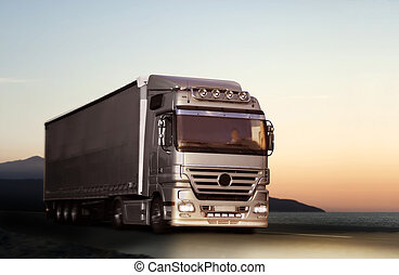 国, トラック, 道