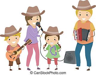 国, 家族, バンド