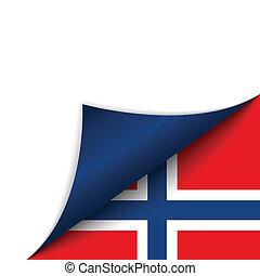 国, 旗, ノルウェー, 回転しているページ