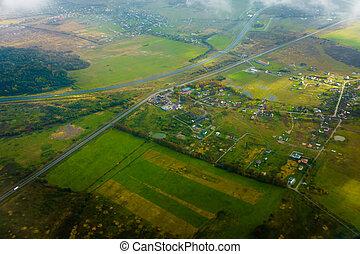 国, 航空写真, サイド光景