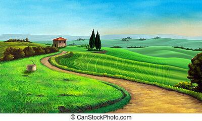 国, 風景
