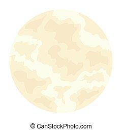 图标, 月亮, 白的背景