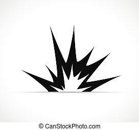 图标, 爆炸, 矢量, 设计, 黑色