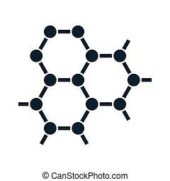 图标, 白色, 化学, 背景, 原子