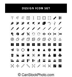 图标, 设计, 矢量, 编辑, 风格, glyph, 放置