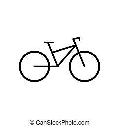 图标, vector., 自行车