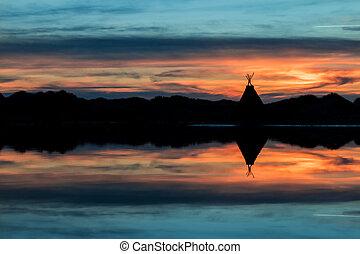 圆锥形帐篷, 湖反映