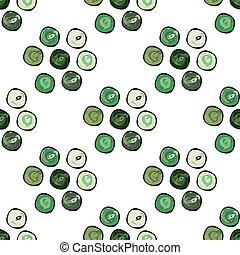 圈子, 摘要, pattern., seamless, 矢量, 背景