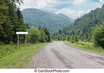 國家道路, 在之間, 小, 解決, 在, the, carpathians, 烏克蘭