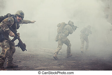 國家, 別動隊員, 團結, 行動, 軍隊