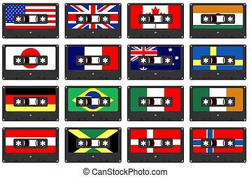 國家, 卡式磁帶