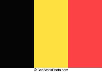 國旗, ......的, 國家, 比利時, 為, 民用, 使用, (black, yello, 紅色, color)