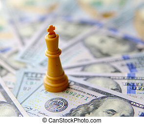國王, ......的, 事務, concept., 美元