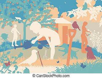 園芸, 家族