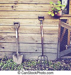 園芸 用具, ∥で∥, レトロ, フィルター, 効果