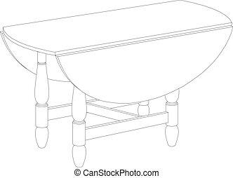 圓桌, 圖畫
