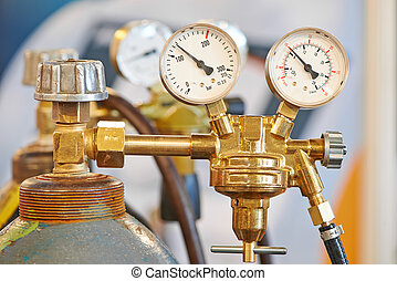 圓筒, 乙炔, 坦克, 氣體測量儀, 銲接