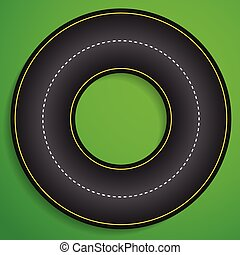 圓, 跑道, 從, above., karting, 參加比賽, 軌道, 開車, 交通, 運輸, 概念, 圓, 跑道,...