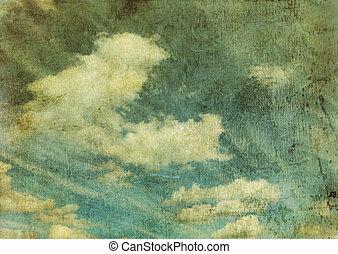 圖像, 天空, retro, 多雲