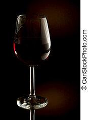圖像, 玻璃, 低, 鑰匙, 紅色, 酒