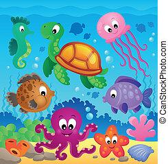 圖像, 由于, 海面以下, 主題, 7