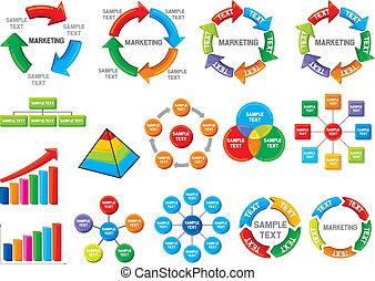 圖形, 圖表, 事務, 彙整