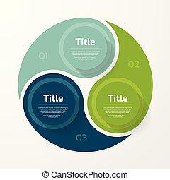 圖形, 概念, processes., 事務, 部分, infographic., 三, 圖表, chart., 背景。, 矢量, 步驟, 樣板, 摘要, 環繞, 表達, 或者, 選擇