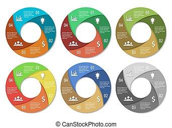 圖形, infographic, 輪