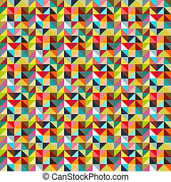 圖案, 三角形, seamless, 鮮艷
