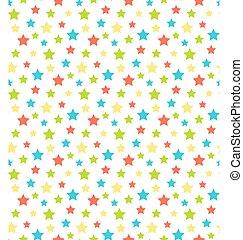 圖案, 摘要, seamless, 被隔离, 明亮, 星, 白色