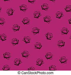 圖案, 玫瑰, seamless, 小