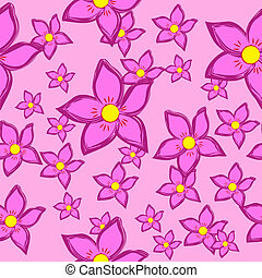 圖案, 花, seamless, 背景