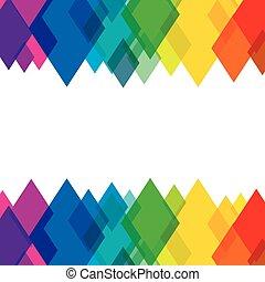 圖案, 設計, 鮮艷, 菱形