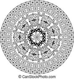 圖案, 輪, 蔓藤花紋