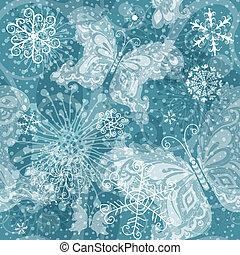 圖案, 銀色,  seamless, 聖誕節