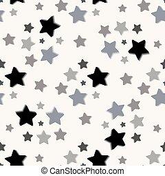 圖案, 陰影, 白色, seamless, 星