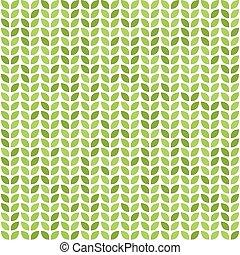 圖案, 離開, 矢量, 綠色, seamless